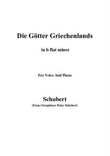 Die Götter Griechenlands, D.677: B flat minor by Franz Schubert