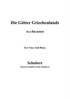 Die Götter Griechenlands, D.677: A flat minor by Franz Schubert