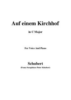 Auf einen Kirchhof, D.151: D flat Major by Franz Schubert