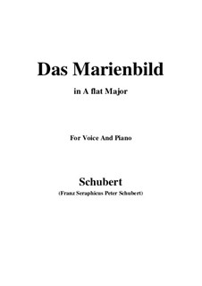 Das Marienbild, D.623: A flat Major by Franz Schubert