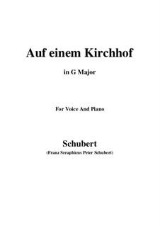Auf einen Kirchhof, D.151: G Major by Franz Schubert