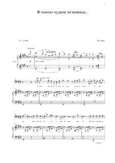 Wenn ich des Augenblicks gedenke: Für Stimme und Klavier (E Major) by Michail Glinka