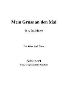 Mein Gruss an den Mai, D.305: A flat Major by Franz Schubert