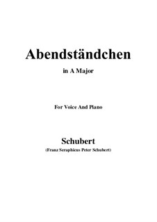 Abendständchen. An Lina, D.265: A-Dur by Franz Schubert