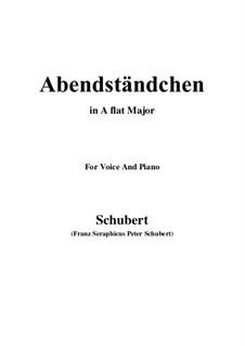 Abendständchen. An Lina, D.265: A flat Major by Franz Schubert