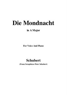 Die Mondnacht, D.238: A-Dur by Franz Schubert