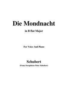 Die Mondnacht, D.238: B flat Major by Franz Schubert