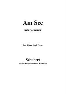 Am See, D.124: B flat minor by Franz Schubert