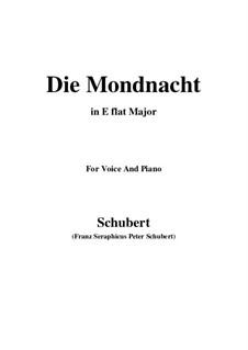 Die Mondnacht, D.238: E flat Major by Franz Schubert