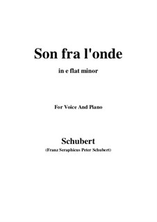Son fra l'onde: E flat minor by Franz Schubert