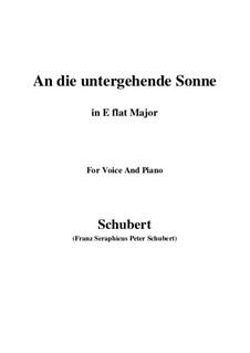 An die untergehende Sonne, D.457 Op.44: E flat Major by Franz Schubert