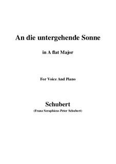 An die untergehende Sonne, D.457 Op.44: A flat Major by Franz Schubert