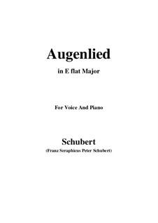 Augenlied, D.297: E flat Major by Franz Schubert