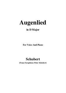 Augenlied, D.297: D Major by Franz Schubert