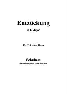 Entzückung, D.413: E Major by Franz Schubert