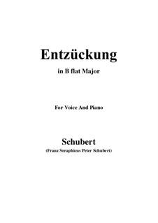 Entzückung, D.413: B flat Major by Franz Schubert