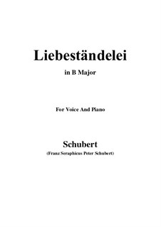 Liebeständelei, D.206: B Major by Franz Schubert
