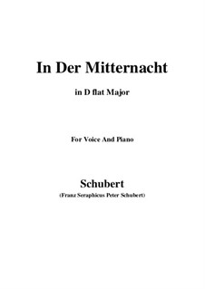 In der Mitternacht, D.464: D flat Major by Franz Schubert