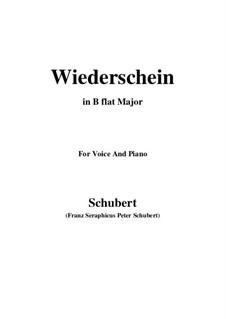 Wiederschein, D.639: B flat Major by Franz Schubert