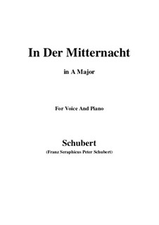 In der Mitternacht, D.464: A-Dur by Franz Schubert