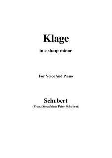Klage (Trauer umfliesst mein Leben), D.371: C minor by Franz Schubert