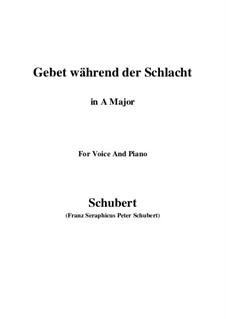 Gebet während der Schlacht, D.171: Für Stimme und Klavier (A Major) by Franz Schubert