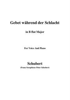 Gebet während der Schlacht, D.171: Für Stimme und Klavier (B Flat Major) by Franz Schubert