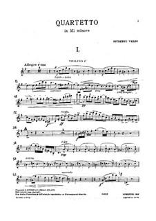 Streichquartett in e-Moll: Stimmen by Giuseppe Verdi