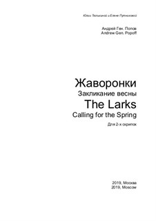 The Larks. Calling for the Spring: The Larks. Calling for the Spring by Andrej Popow