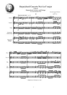 9 Concertos for Harpsicord obbligato and Strings: Concerto No.6 in F major, CSPla24 by Giovanni Benedetto Platti