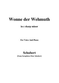 Wonne der Wehmut, D.260 Op.115 No.2: C sharp minor by Franz Schubert