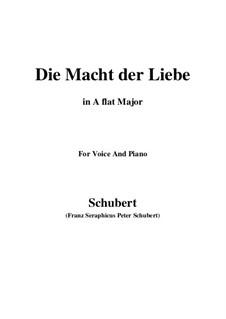 Die Macht der Liebe, D.308: A flat Major by Franz Schubert