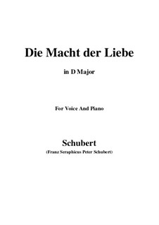 Die Macht der Liebe, D.308: D Major by Franz Schubert