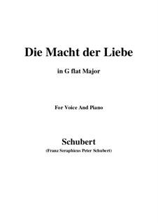 Die Macht der Liebe, D.308: G flat Major by Franz Schubert