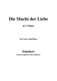 Die Macht der Liebe, D.308: C-Dur by Franz Schubert