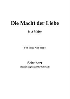 Die Macht der Liebe, D.308: A-Dur by Franz Schubert