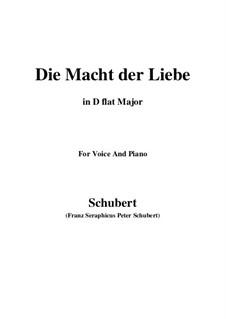 Die Macht der Liebe, D.308: D flat Major by Franz Schubert