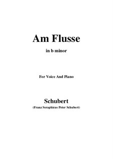 Am Flusse, D.160: B minor by Franz Schubert