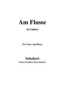 Am Flusse, D.160: F minor by Franz Schubert