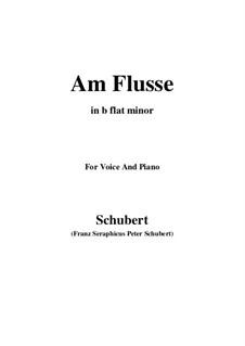 Am Flusse, D.160: B flat minor by Franz Schubert