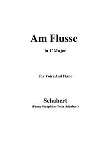Am Flusse, D.766: C-Dur by Franz Schubert