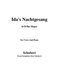 Idens Nachtgesang, D.227: B flat Major by Franz Schubert