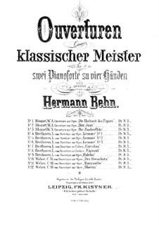 Leonore. Ouvertüre No.3, Op.72b: Version für zwei Klaviere, vierhändig by Ludwig van Beethoven