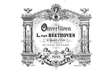 Ouvertüren Egmont, Coriolan, Fidelio, Leonore Nr.3, Op.84, 62, 72: Bearbeitung für zwei Klaviere, achthändig – Klavierstimme I by Ludwig van Beethoven