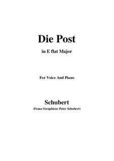 Nr.13 Die Post: Für Stimme und Klavier (E Flat Major) by Franz Schubert