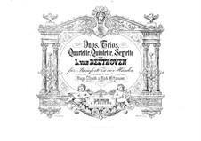 Quartette Nr.4-6: Bearbeitung für Klavier, vierhändig - Stimmen by Ludwig van Beethoven