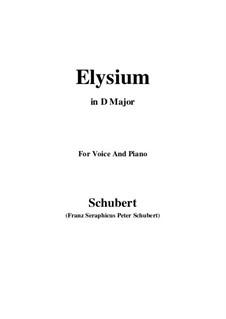 Elysium, D.584: D Major by Franz Schubert