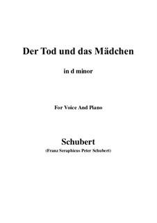 Tod und das Mädchen, D.531 Op.7 No.3: For voice and piano (d minor) by Franz Schubert