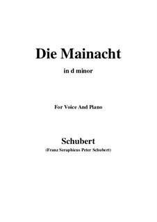 Die Mainacht, D.194: E flat minor by Franz Schubert