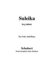Suleika I, D.720 Op.14 No.1: Für Stimme und Klavier (G minor) by Franz Schubert